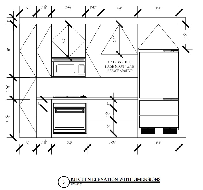 Kitchen Design Elevation