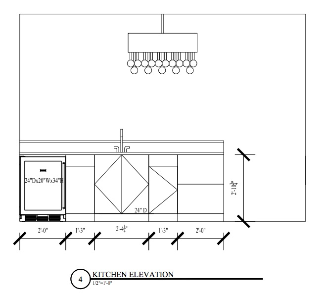 Kitchen Floor Plans And Elevations: Lower Level Galley Kitchen